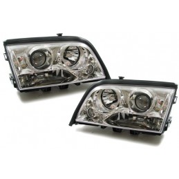 Mercedes c W202 look xenon front lights