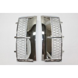 Side gills wing Range Rover L322 grey chrome grills
