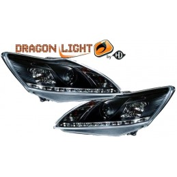 Front headlights led Ford Focus 2008-2011 - black