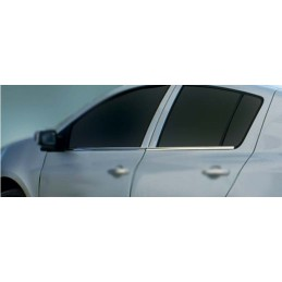 Outline of window chrome alu 4 Pcs stainless RENAULT CLIO 3