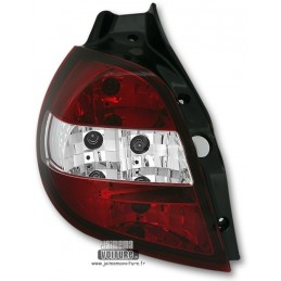 Renault Clio 3 headlights arrears Crystal Red White