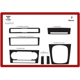 Trims dashboard for AUDI A3...