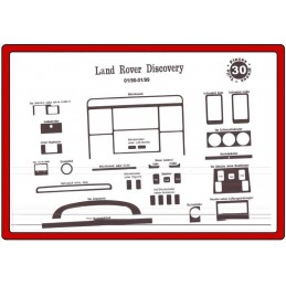 Insert tableau de bord ROVER Land Rover Discovery 1990-1998 30 pièces