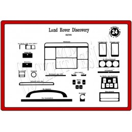 Insert tableau de bord ROVER Land Rover Discovery 1998-2004 24 pièces