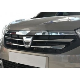 Outline of grille chrome alu Inox DACIA LODGY
