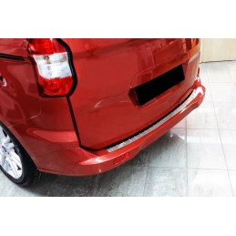 Edge loading alu brushed chrome sill bumper Ford Tourneo Courier