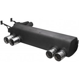 BMW M3 outputs dual exhaust silencer