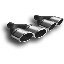 Double tailpipe left and right oval sport