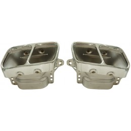 Exhaust tailpipes Mercedes A45 AMG CLA 45 GLA 45