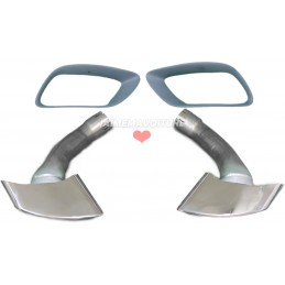 Pair of exhaust tips BMW X5 E70