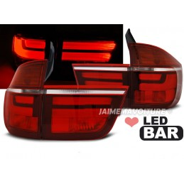 Headlights taillights led look facelift BMW X5 E70