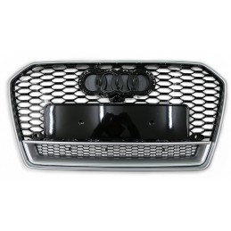 Grille for Audi A6 2015-2018 look RS6 - black gray