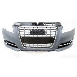 Black S grille chrome for Audi A3 2008-2011