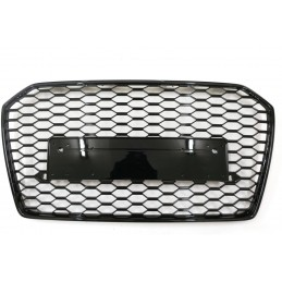 Grid grille look for Audi A6 RS6 2015 - 2018 black painted