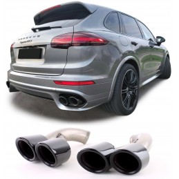 Exhaust tips for Porsche Cayenne 2015-2018 look TURBO