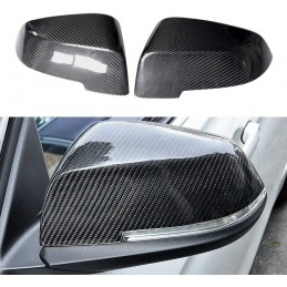 Pair covers carbon mirror...