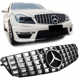 Clear gray grille for Mercedes class C W204