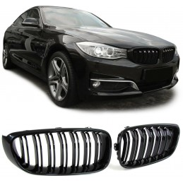Glossy black double bar grille for BMW 3 Series F30 F31