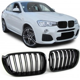 Grille for BMW X 3 F25 LCI 2014-2017 - Look X 4 M Black varnished