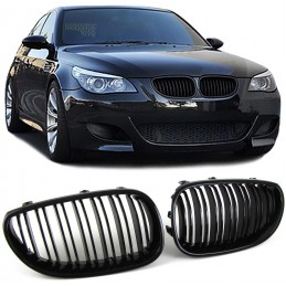 Double bar black grille for BMW 5 Series 2003-2010