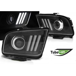 Led front headlight for Ford Mustang 2005-2009 - Chrome