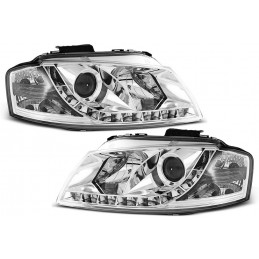 Led for Audi A3 front headlights chrome