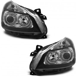 Front headlights angel eyes for Renault Clio - black