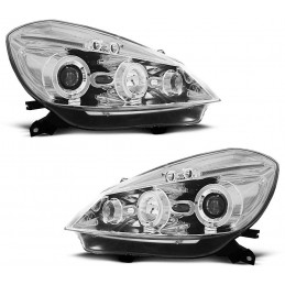 Front headlights angel eyes Junyan Chrome for Renault Clio 3