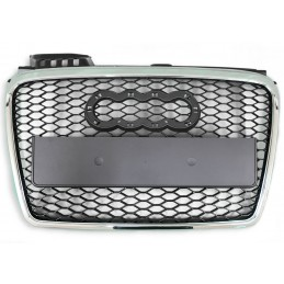Grille for Audi A4 B7 look black RS4 chrome honeycomb