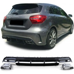 Diffuser for Mercedes A-Class A45 AMG Facelift 2015+