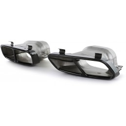 Dual tip exhaust for A45 AMG Mercedes / CLA45 / GLA 45 AMG - black