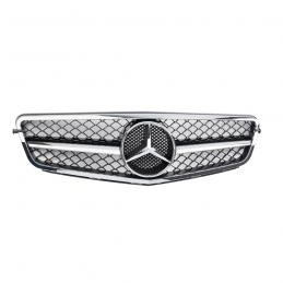 Grille for Mercedes W204 C - 1 bar