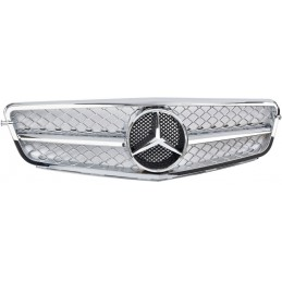Grille chrome for Mercedes class C W204