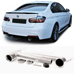 Double 2 exhaust outlets for BMW 3 Series F30 F31 Pack M