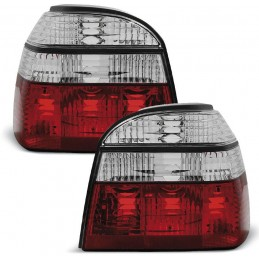 Phares arrières tuning Golf 3 rouge blanc