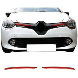 Added chrome grille Renault CLIO 4