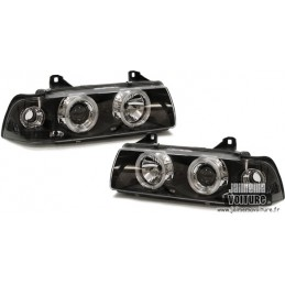 Fire Angel eyes BMW E36 black fronts